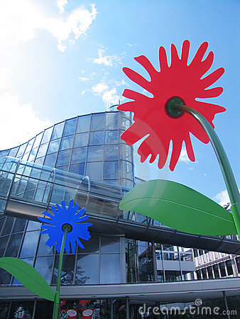 Building & flowers