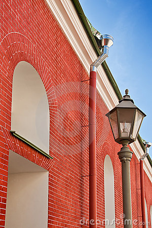 Free Building From A Red Brick And A Lantern Stock Photo - 17036950