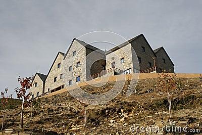 Building on hilltop