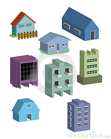 Building and houses Vector