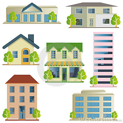 Free Building Icons Set Royalty Free Stock Image - 19133986