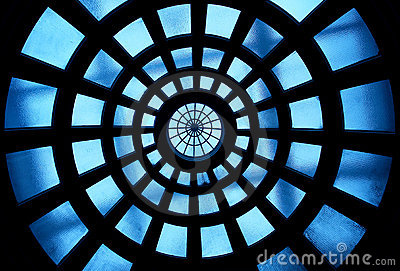 Building inside glass ceiling