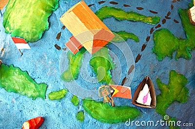 Building miniature cardboard