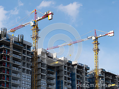 Building new housing apartments in Singapore