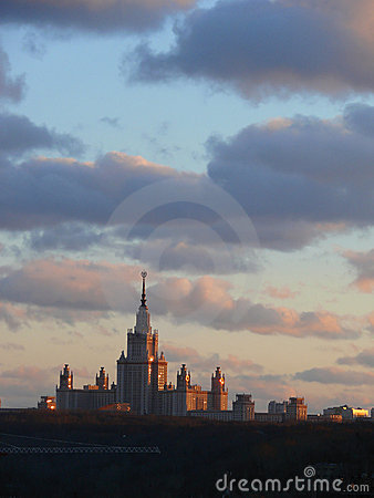 Free Building Of The Moscow University. Royalty Free Stock Photography - 5350717