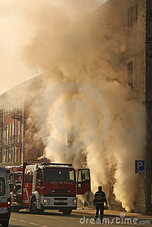 Free Building On Fire Stock Photo - 22374940