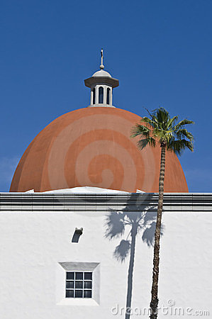 Building with Orange Dome, California
