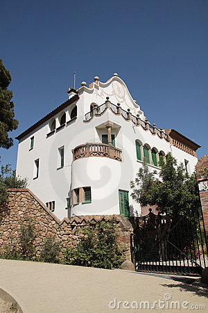 Building in Park Guell - Barcelona