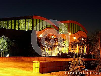 Building in Pre-Dawn Light