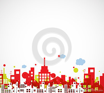 Building And Real Estate City Illustration Abstract
