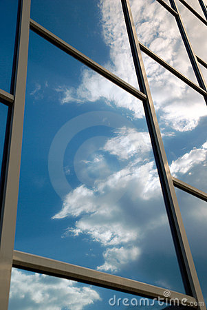 Free Building Reflects The Sky Stock Photo - 5426810