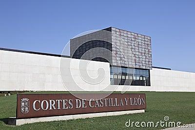 Building regional politics of Castilla y León Editorial Stock Image