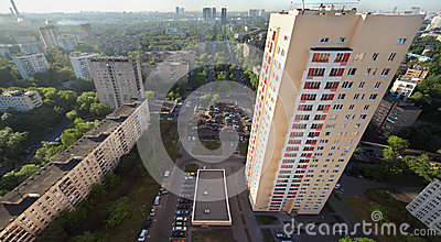 Building on Rokossovsky blvd Editorial Stock Image