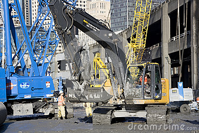 Building the SR 99 tunnel Editorial Stock Photo