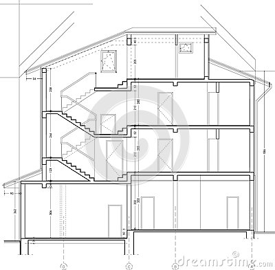 Building section drawing royalty free stock photo image for 2d building drawing