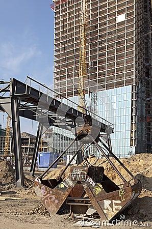 Building site of skyscaper