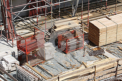 Building site, tools and scaffold 2