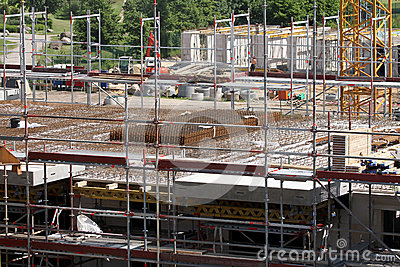 Building site, tools and scaffold 5