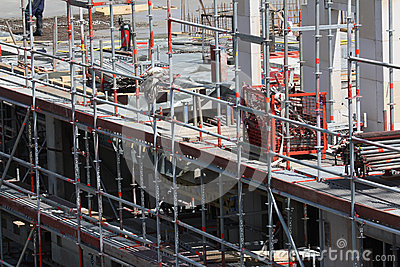 Building site, tools and scaffold 6