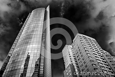Corporate Skyscraper Building and Sky