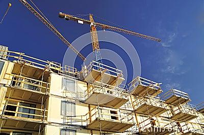 Building sky crane