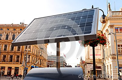 Building and solar power panel