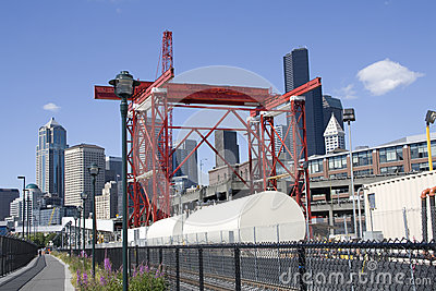Building the SR 99 tunnel construction site