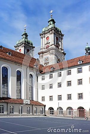 The building of St. Gallen University.