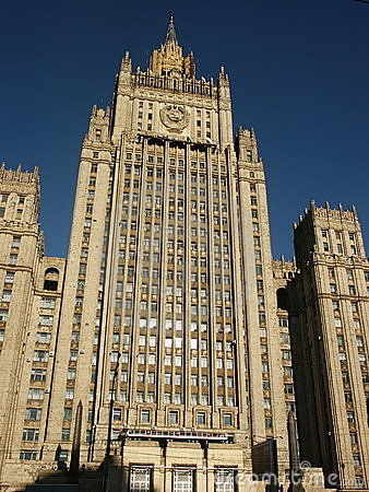 Building Stalin epoch (Moscow)
