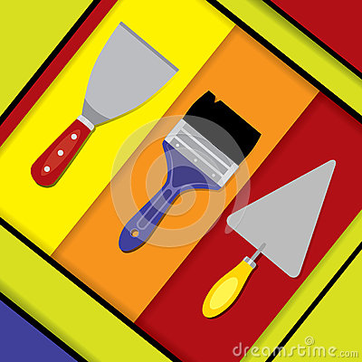 Free Building Tools Material Design Royalty Free Stock Image - 70856236
