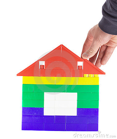 Free Building Toy House 2 Stock Photography - 3300752