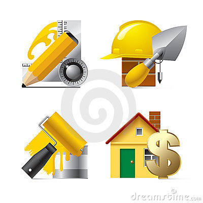Free Building Website Icons Stock Photography - 4402452