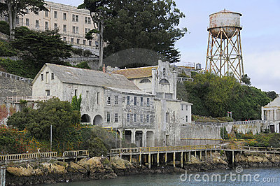 Buildings on Alcatraz Island