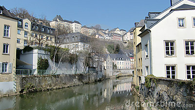 Buildings along River Alzette