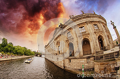 Buildings along Spree River in Berlin