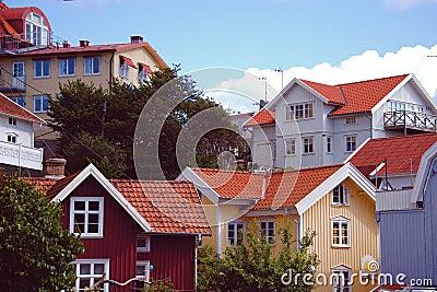 Buildings in the archipelago in Sweden
