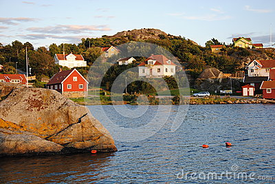 Buildings in the archipelago in Sweden