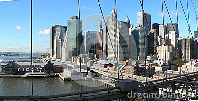 Buildings and bridges from Manhattan