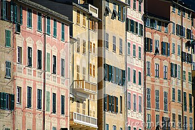 Buildings in Camogli
