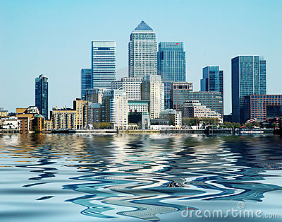 Buildings at Canary Wharf