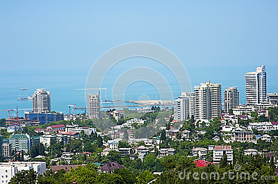 Buildings on the coast of Sochi