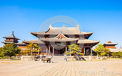 Buildings of Datong`s Huayan temple.