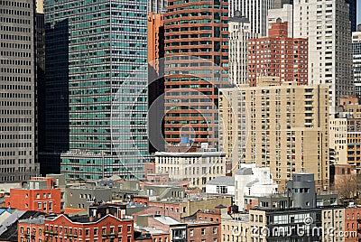 Buildings downtown in Manhattan