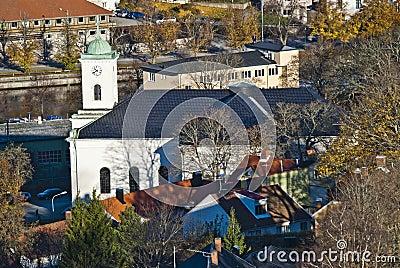 Buildings in halden, immanuel church