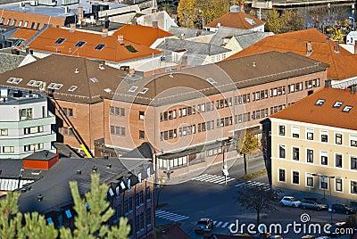 Buildings in halden, police station