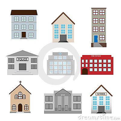 Buildings Icons Stock Images - Image: 14216134