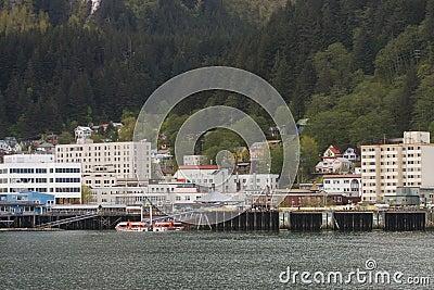 Buildings in Juneau Alaska from Sea