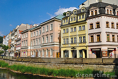 Buildings in Karlovy Vary Editorial Image
