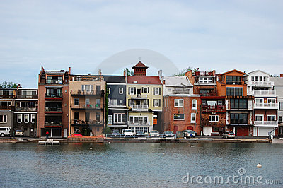 Buildings beside the lake, Skaneateles, New York