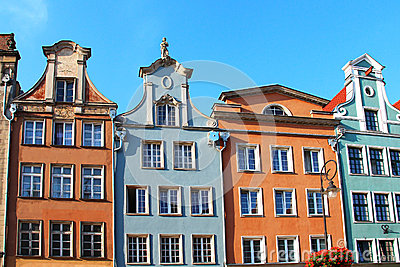 Buildings on Long Market street, Gdansk, Poland